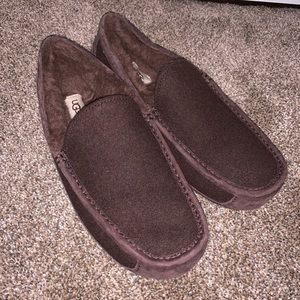 f43a97d4990 Ugg ascot wool brown slippers 11 men's
